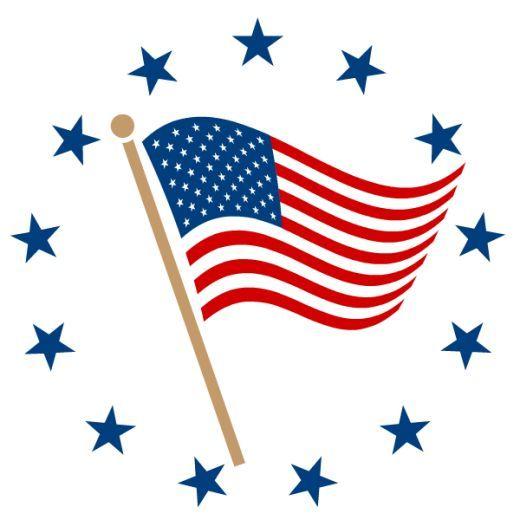 520x520 The Best American Flag Clip Art Ideas American
