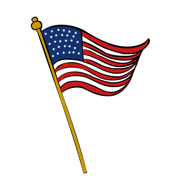600x630 Veterans Day Flag Clip Art