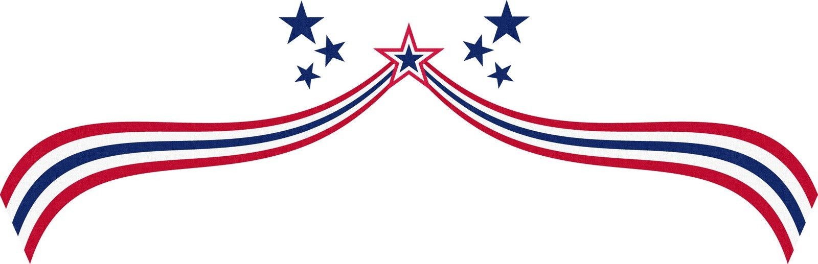 1600x517 free flag day clipart border