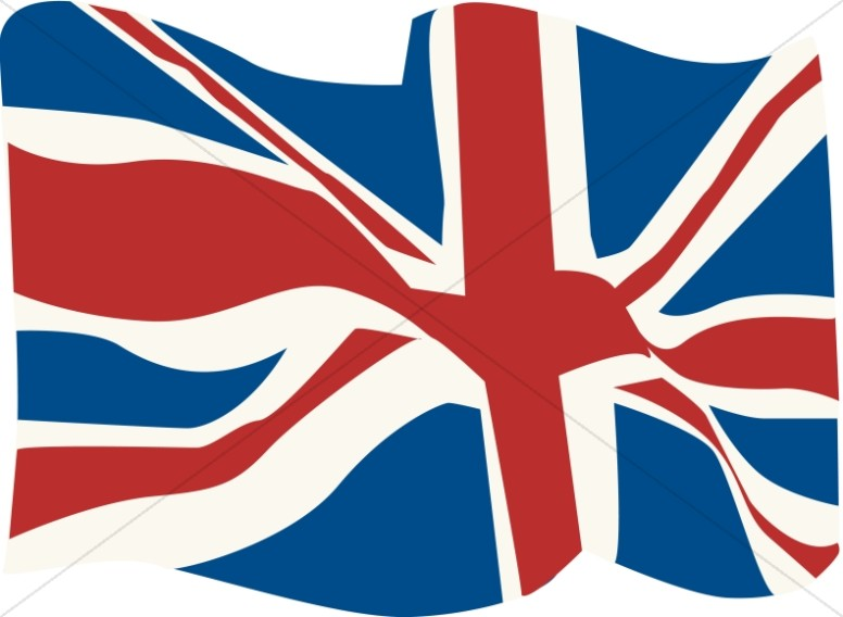 776x568 British Flag In The Wind Veteran's Day Clipart