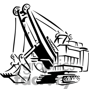 300x300 Black And White Construction Clip Art
