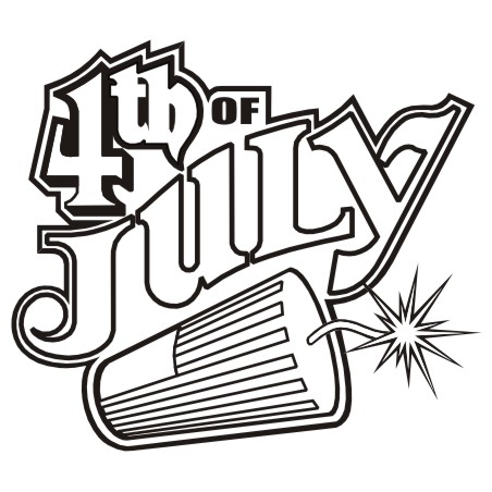 452x452 Independence Day Black And White Clipart