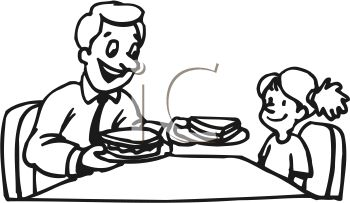 350x203 Royalty Free Clip Art Image Black And White Cartoon Of A Little