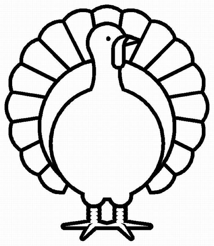 703x810 Thanksgiving Day Clipart Black And White