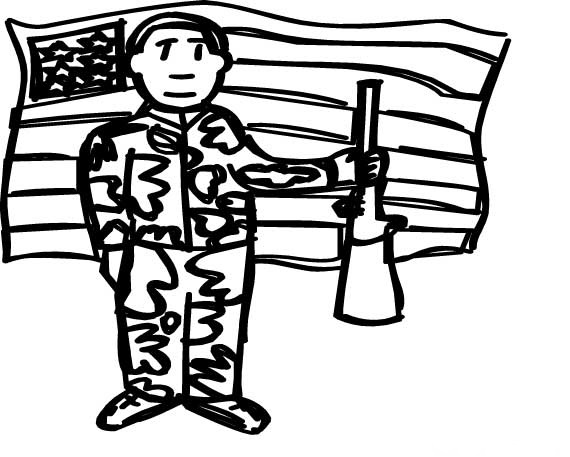 Veterans Day Clipart Black And White