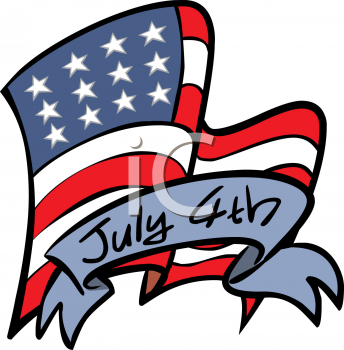 344x350 Independence Day Black And White Clipart