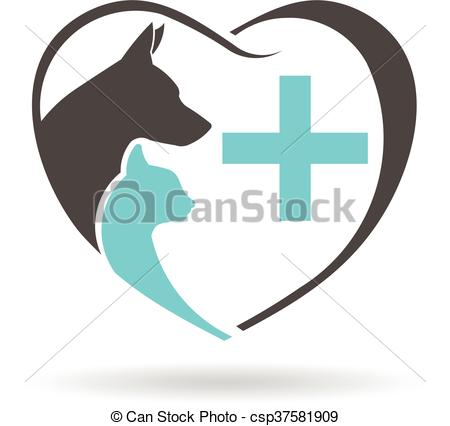 450x426 Vector Clipart Of Veterinary Logo. Vector Graphic Design