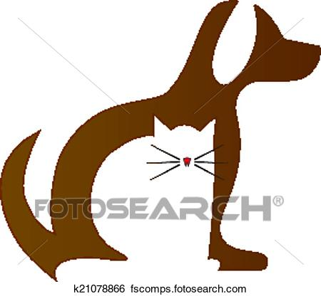 450x416 Clip Art Of Dog And Cat Veterinary Logo K21078866