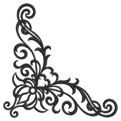 500x500 Fancy Corner Scroll Designs Corner Scroll Design Tattoo ~jaqua