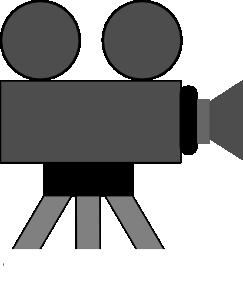 243x299 Movie Camera Clip Art