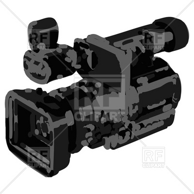 400x400 Professional Video Camcorder In Artistic Style Royalty Free Vector