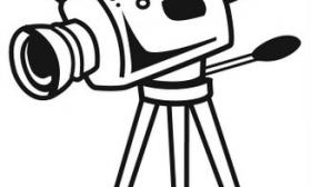 280x168 Video Camera Clipart