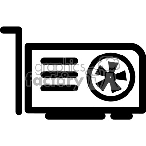 300x300 Royalty Free Video Graphics Card Icon 403825 Vector Clip Art Image