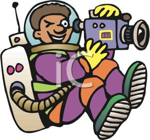 300x279 Art Image An Astronaut Filming With A Video Camera