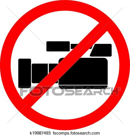 450x470 Clipart Of Do Not Record Video Sign K19987493