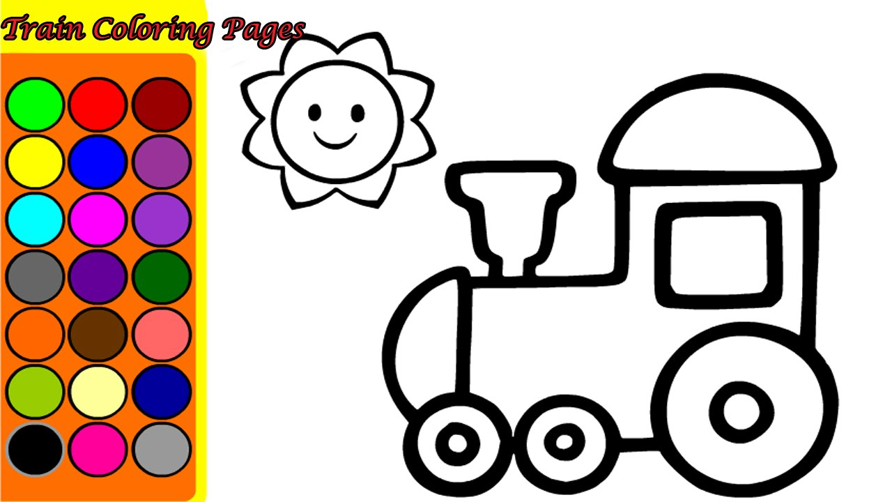 1280x720 Train Coloring Pages Game