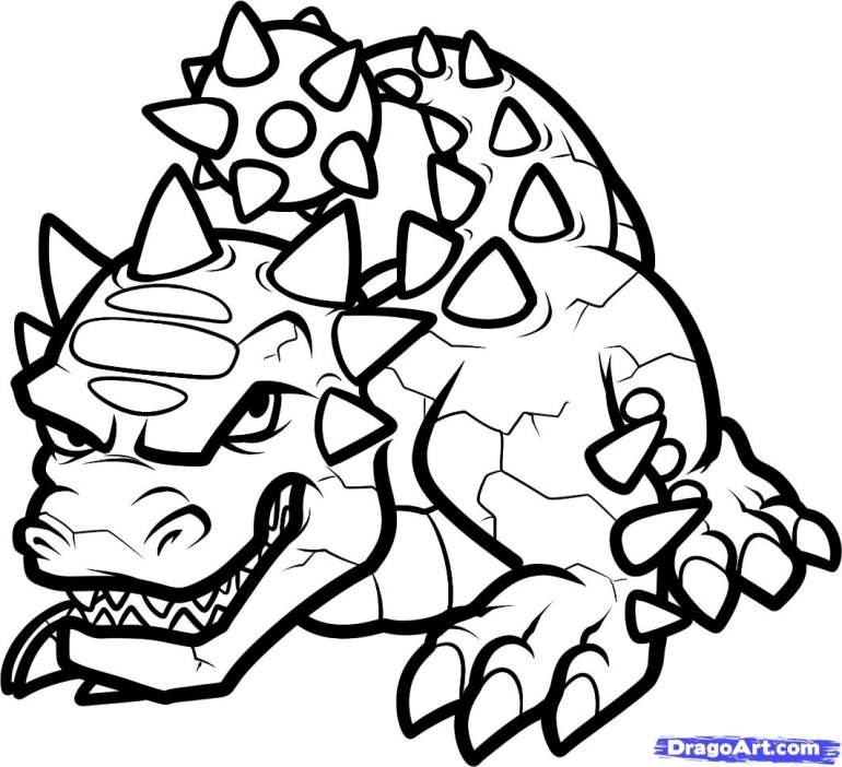 770x702 Video Games Coloring Art Galleries In Skylander Coloring Pages