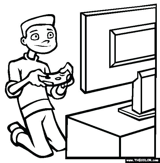 554x565 Video Games Coloring Page Free Best Game Pages Images