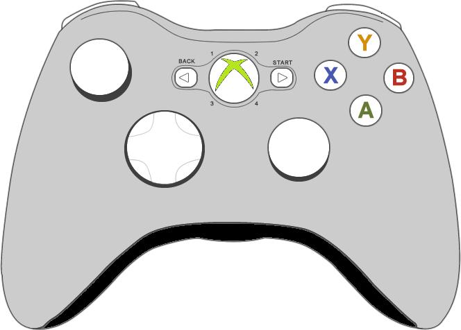664x476 Drawn Controller Clipart