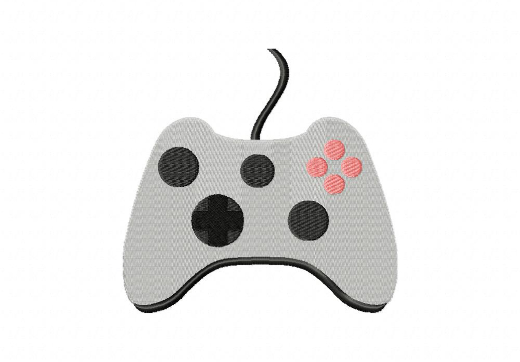 1036x721 Game Controller Machine Embroidery Design Daily Embroidery