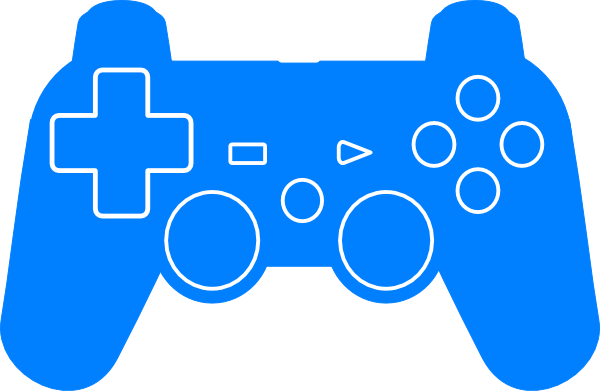 600x391 Play Station Controller Silhouette Clip Art