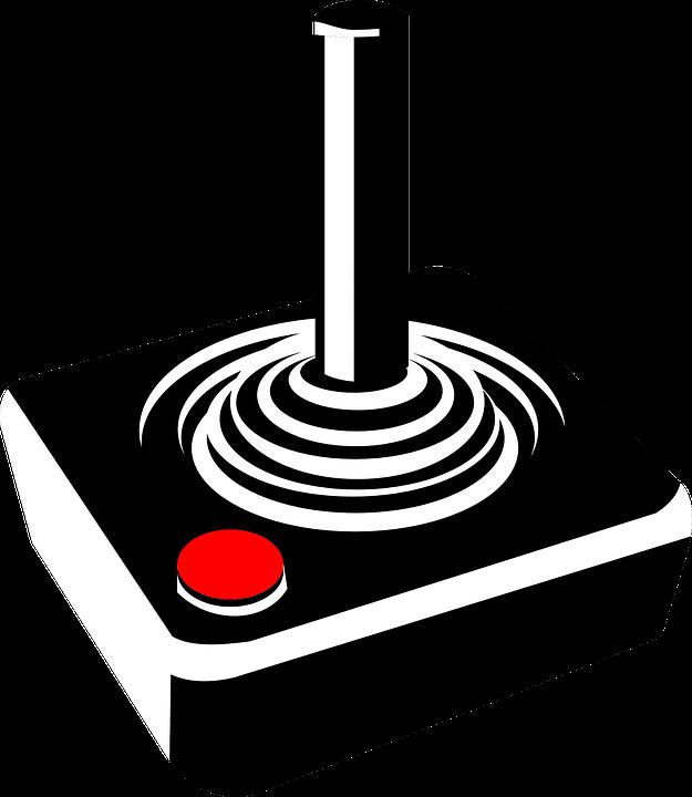 625x720 Video Game Clipart Joystick