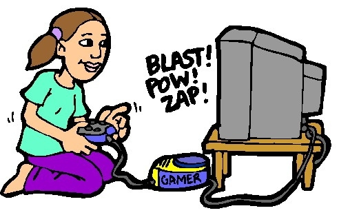 492x312 Girl Playing Video Games Clipart Letters Example