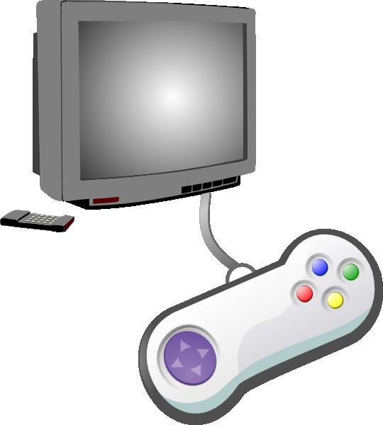 540x600 Play Videogames Clip Art