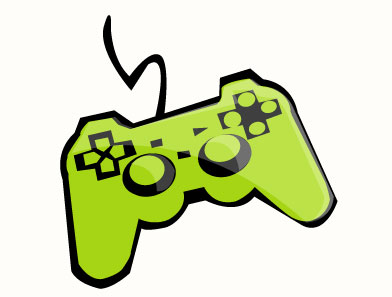 392x297 Video Game Clipart
