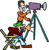 167x170 Clip Art Of Professional Video Camera Camcorder Retro K9405018