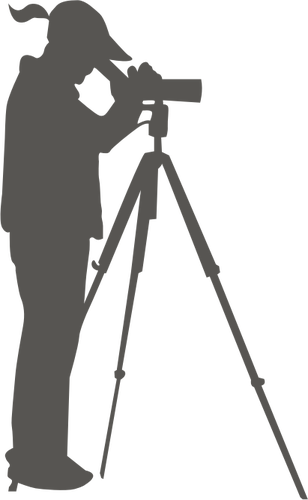 308x500 A Woman Looking Through A Spotting Scope Vector Clip Art Public