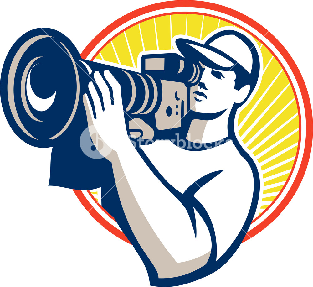 1000x916 Cameraman Film Crew Hd Video Camera Royalty Free Stock Image