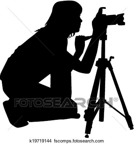 437x470 Clipart Of Photographers K19719144