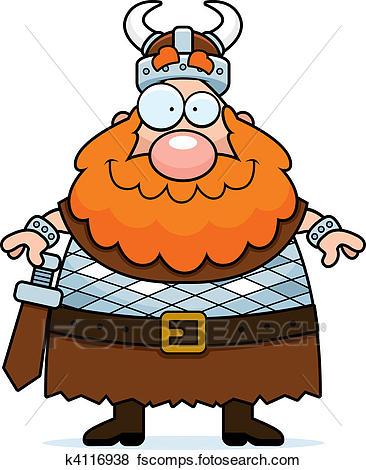 366x470 Clip Art Of Viking Smiling K4116938 b697e7f91ce