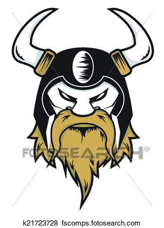 338x470 Clip Art Of Viking Head K21723728