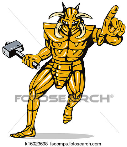 405x470 Stock Illustration Of Villain Knight Armor With Hammer K16023698