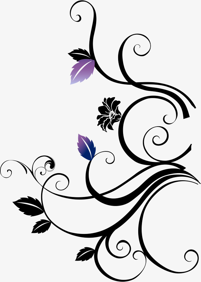 650x909 Little Fresh Black Vines, Little Fresh Vine, Black Flowers, Purple
