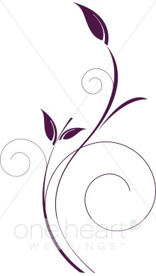 220x388 Delicate Vertical Purple Vine Clipart Clipart Color Variations