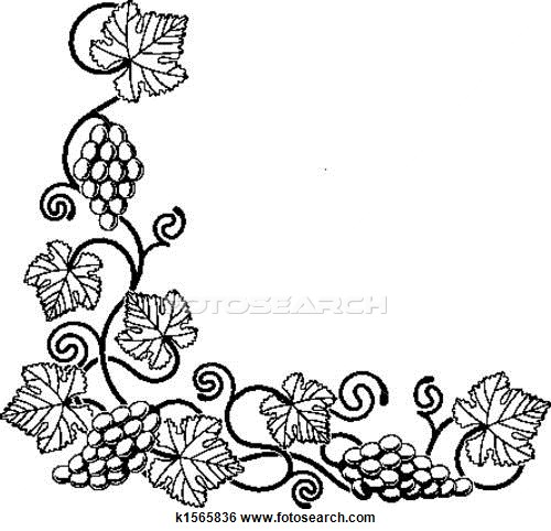 500x482 Illustration Of Grape Vine Design Element Grape Vine Art