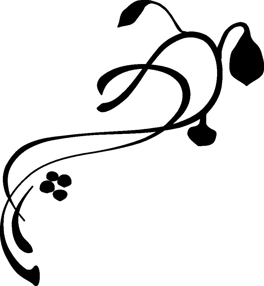 923x1000 Ornamental Clipart Vine