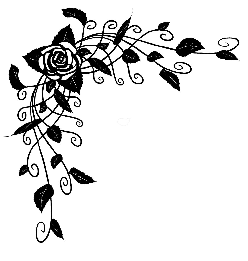 1024x1078 Rose Vine Clipart