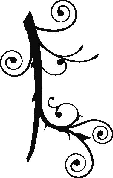 378x595 Tribal Corner Vine Clip Art