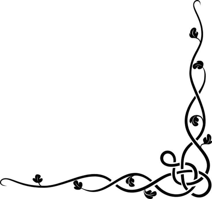 736x692 Vine Clipart Decorative Corner Accent