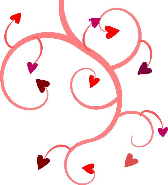 540x595 Vine Heart Clip Art