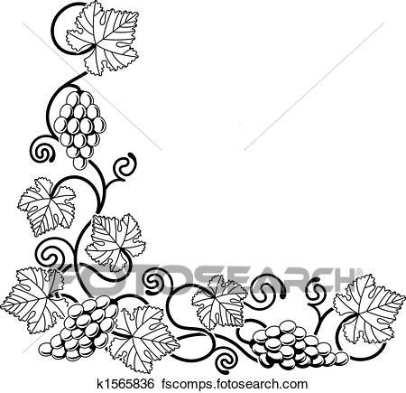 450x435 Clip Art Of Grape Vine Design Element K1565836