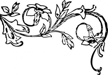 425x296 Decorations Corner Tribal Frame Flower Page Border Free Vine