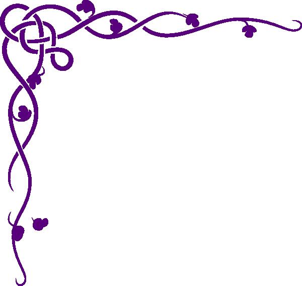 600x569 Celtic Vine Purple Clip Art