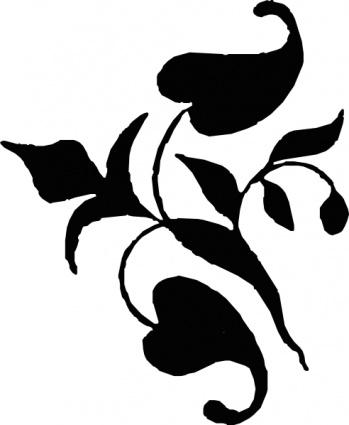 349x425 Ornamental Vine Leaves Clip Art Vector, Free Vectors