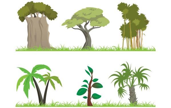 598x378 Palm Tree Clipart Jungle Vine