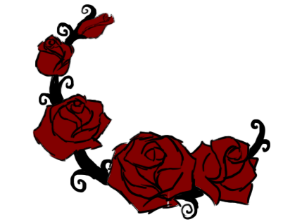 402x319 Rose Vine Clipart rose vine drawing clipart library clip art